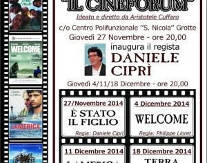 """PLATANI- Inaugurazione de """"IL Cineforum-Città di Grotte"""" con Daniele Ciprì"""