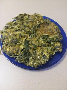 """Frittata con  cavuliceddi (cavolo selvatico """"Brassica fruticulosa"""")"""