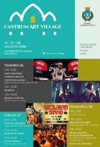 """CASTRONOVO – """"Castrum Art Village"""", luogo del passato per prospettive future."""