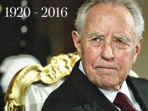 ITALIA – E' morto l'ex Presidente della Repubblica Carlo Azeglio Ciampi. Aveva 96 anni