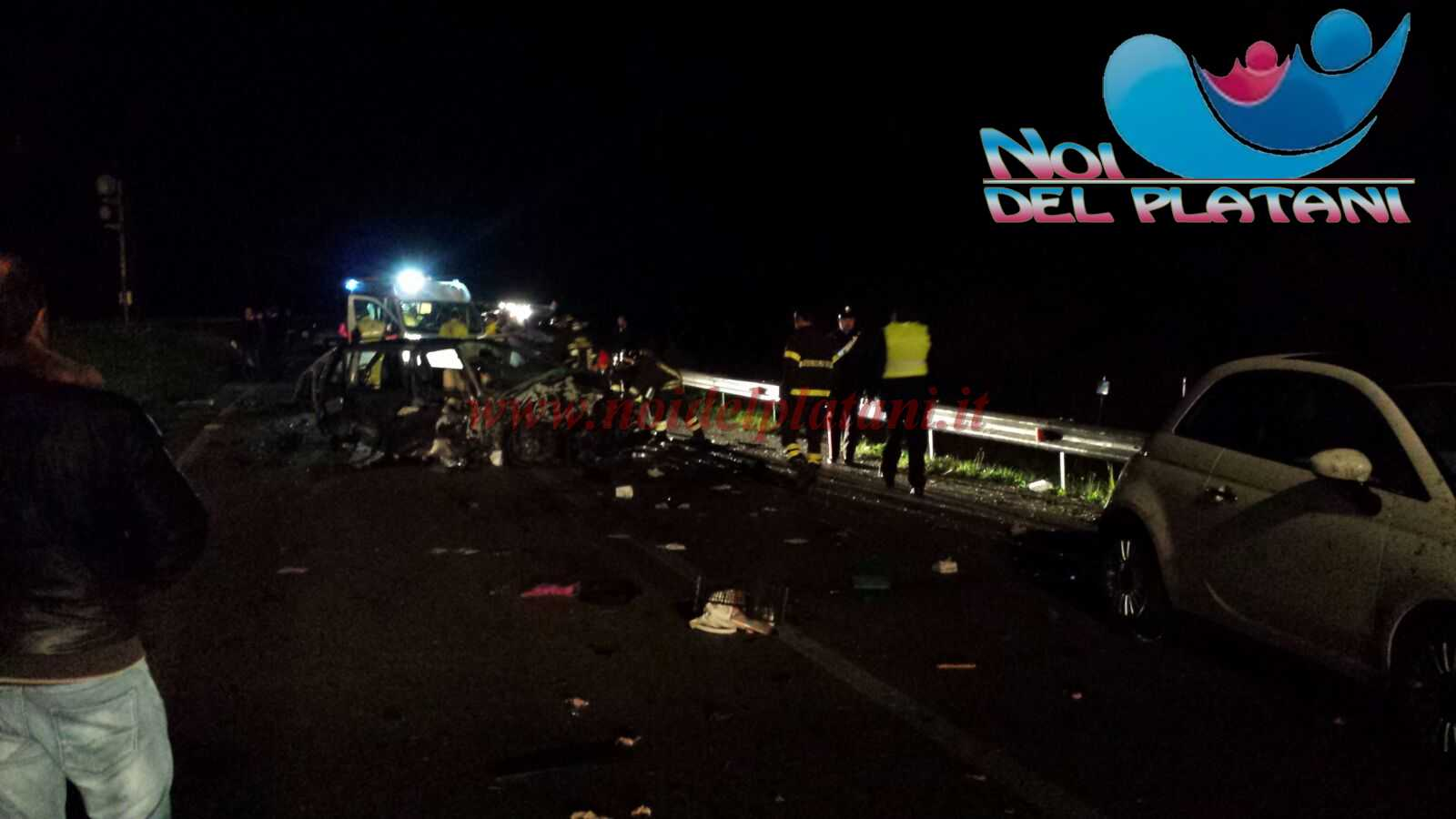 Statale 189, incidente fra cinque autovetture: un morto