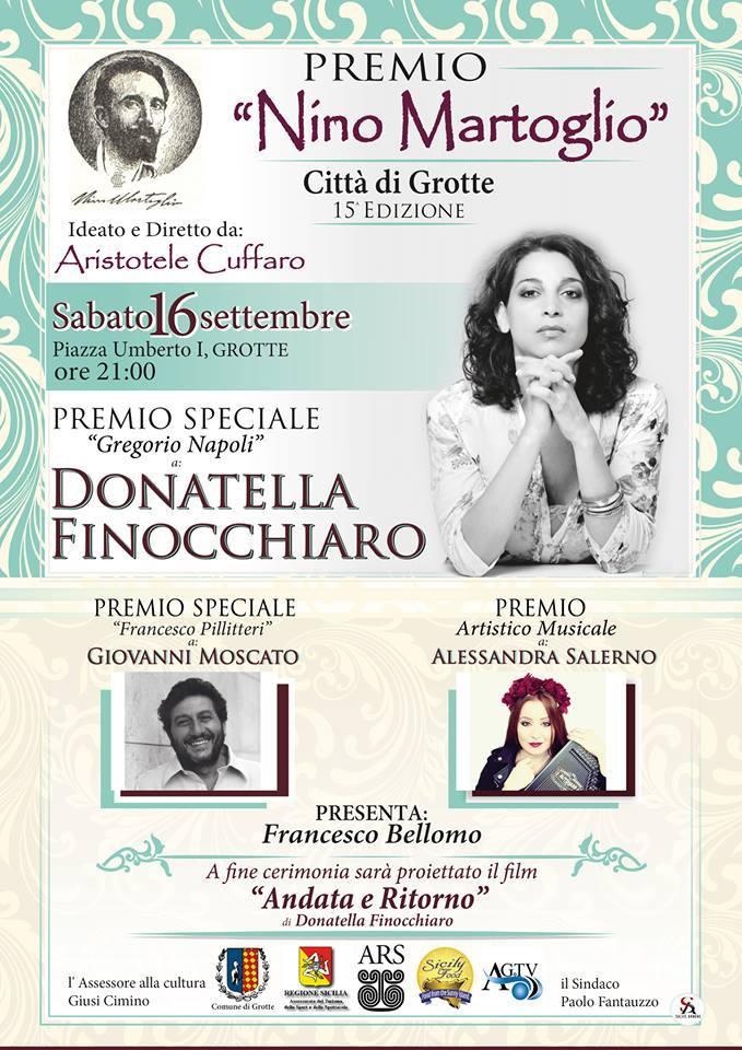"""GROTTE- Al via la XV edizione del  Premio """"Nino Martoglio"""""""