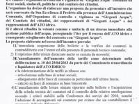Verbale dell'incontro dell'Organismo di controllo e vigilanza su Girgenti Acque