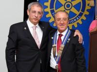 Giuseppe Di carlo, a destra, presidente del Rotary di Mussomeli