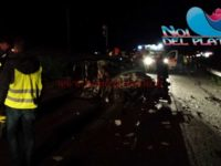 CASTELTERMINI – Gravissimo incidente stradale. Un morto e tre feriti. Le foto.