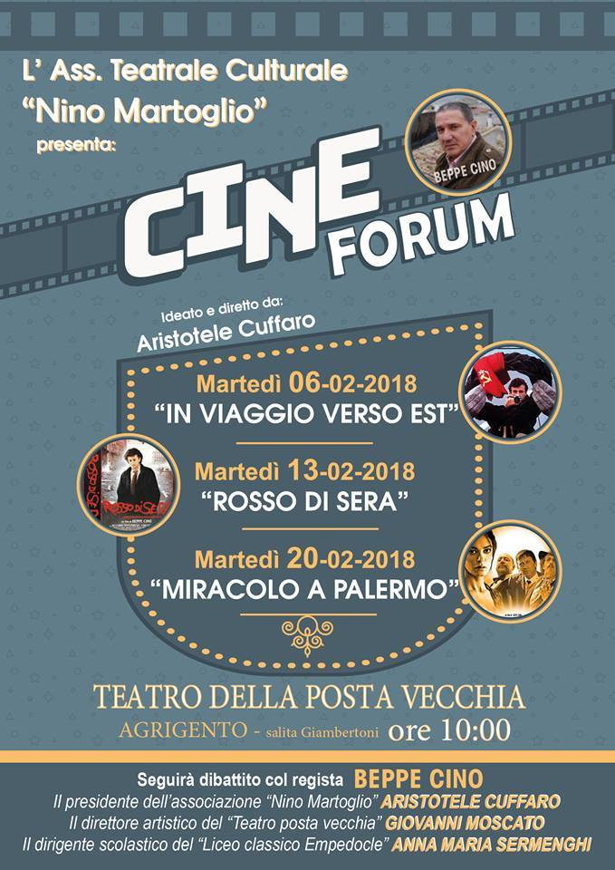 """AGRIGENTO: Cineforum:  """"Miracolo a Palermo"""" al Teatro della  Posta Vecchia"""