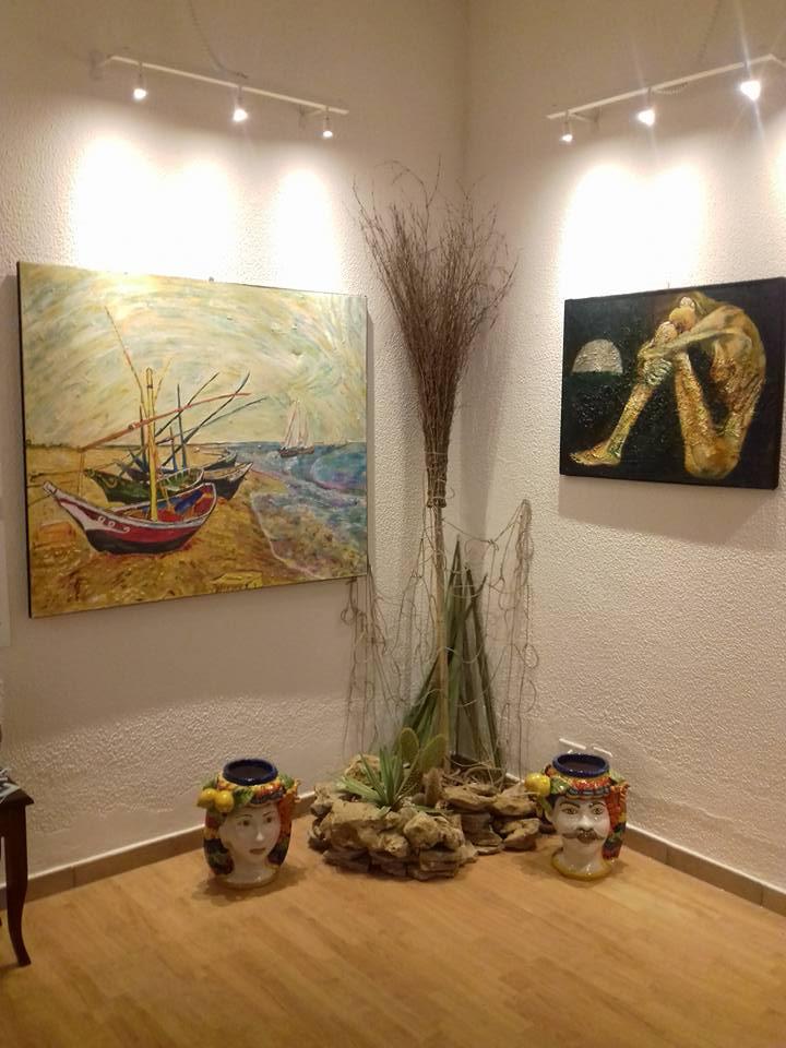 """AGRIGENTO-Mostra Massimo Di Nica presso """"Q."""" Art & Craft Boutique"""