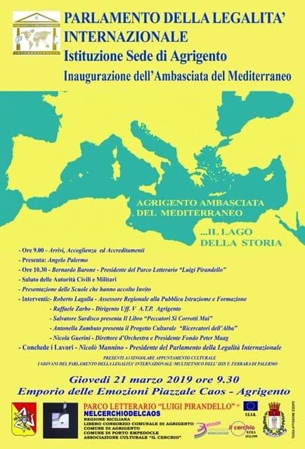 AGRIGENTO-Giornata Nazionale della Legalità, nasce l' Ambasciata del Mediterraneo