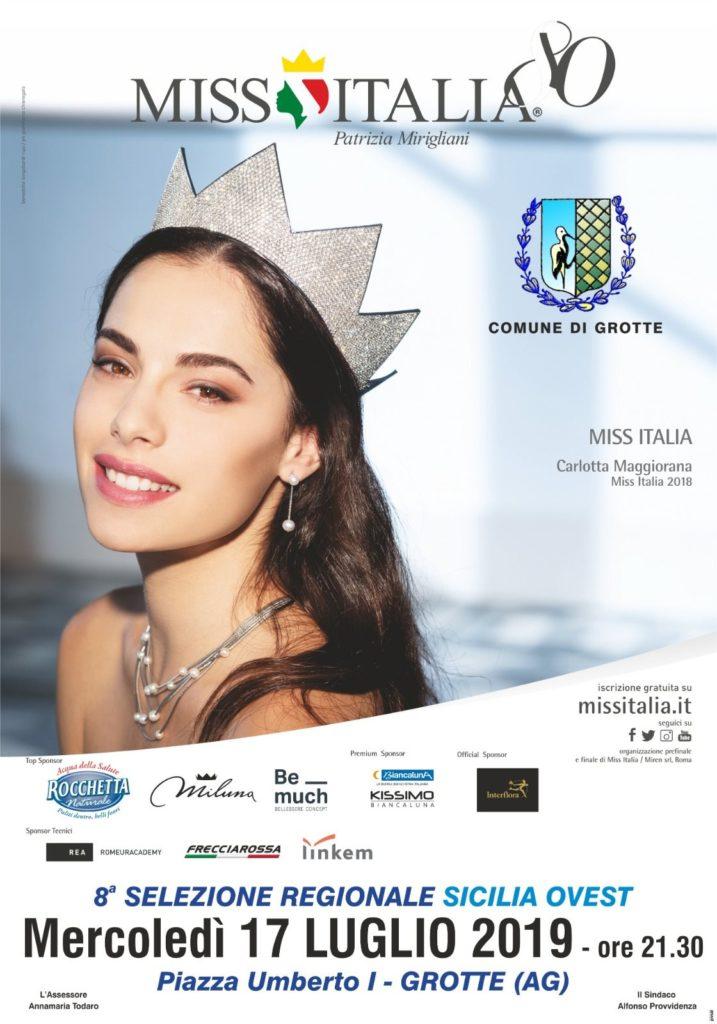 GROTTE-La selezione regionale di Miss Italia arriva a Grotte: appuntamento mercoledì 17