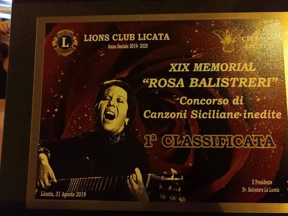 """LICATA-Trionfo dei  Diapason alla 19° ed. del Premio """"Memorial Rosa Balistreri """""""
