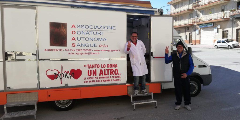 """ARAGONA- A.D.A.S. Record  donazioni di sangue. """"Io resto a casa…esco solo per donare"""""""