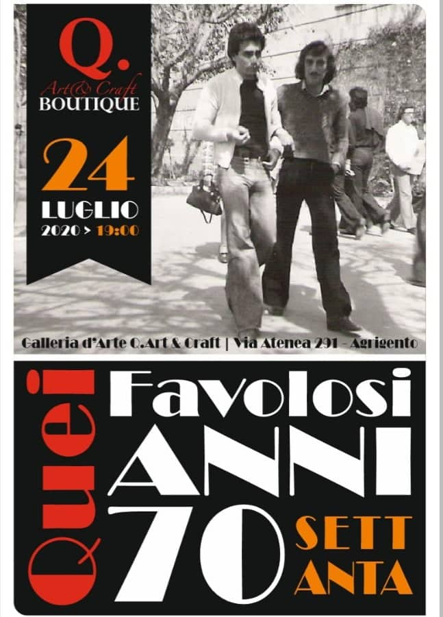 "Mostra ""Quei favolosi anni '70″  alla Galleria ""Q. Art&Craft Boutique"""